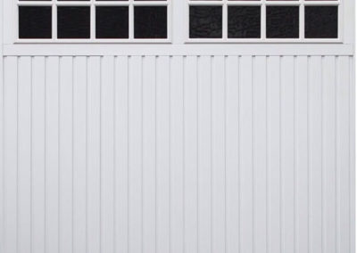 White Windowed Up and Over Garage Door