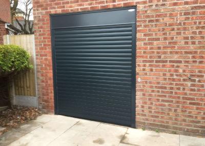 black-single-roller-garage-door