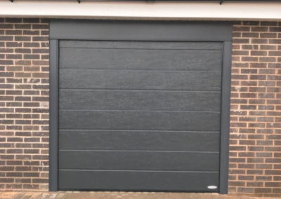 Anthracite centre ribbed woodgrain with matching frame