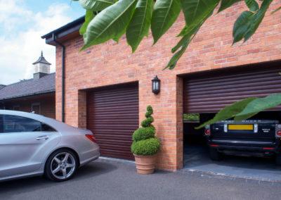 2 x Rosewood single roller doors