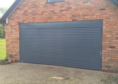 RAL colour double roller door
