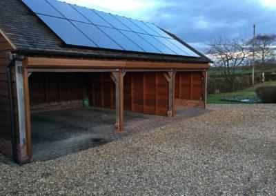 Golden oak box and guides - oak framed garage