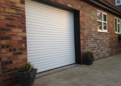 White single roller door