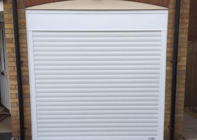 white-single-roller-garage-door-arch