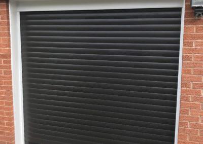 Black roller door