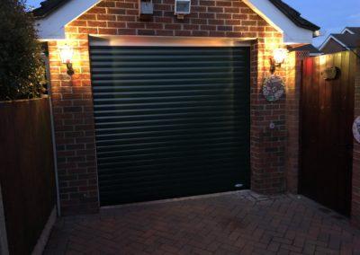 Fir Green Roller Door