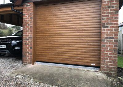 Foiled Golden Oak Roller Door - 2