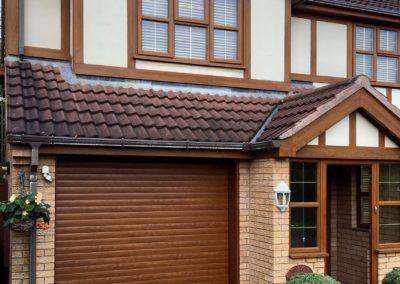 Foiled Golden Oak Roller Door