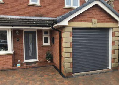 Slate grey roller door