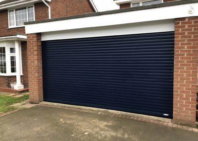 Steel Blue Roller Door