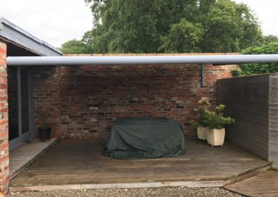 Awning for deck area