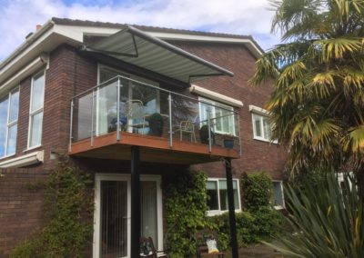Berkshire Awning RAL9007 Silver cassette installed on balcony