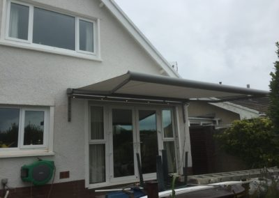 Berkshire awning with lighting rail RAL9007 silver cassette