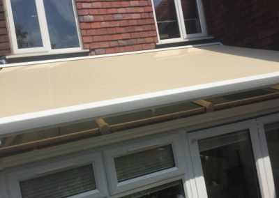 Conservatory awning installation