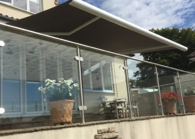 Glass terrace Berkshire awning