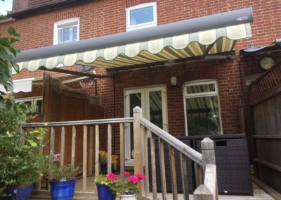 Little hampton RAL9007 silver awning