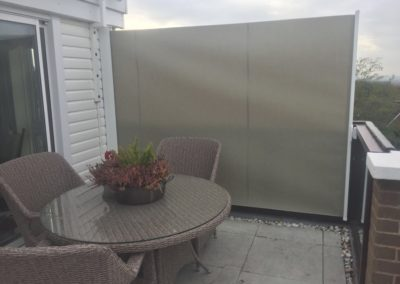 Side screen to match awning