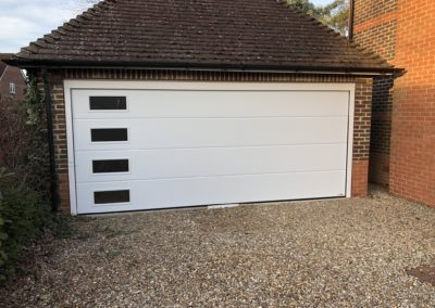 ectional garage door with windows