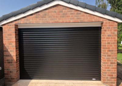 Black RAL9005 roller door