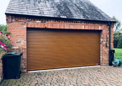Golden Oak Garage Door