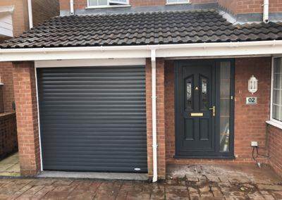 Roller door with matching front door
