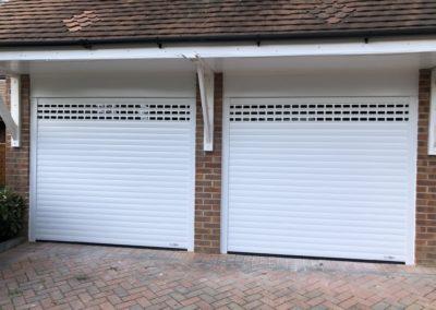 roller garage door with vision slats